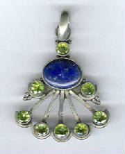 sterling lapis faceted peridot pendant.jpg