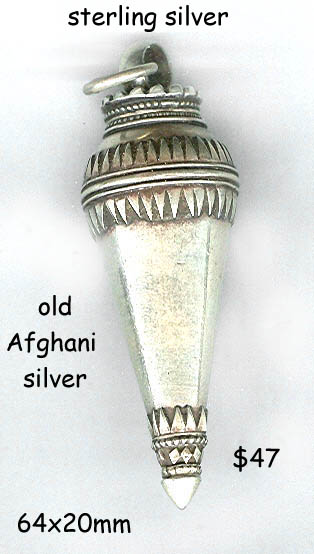 sterling pendant antique Afghanistan